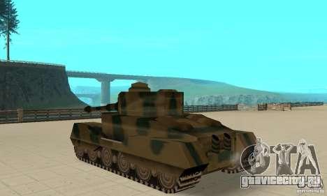 Танк RL-Tiger для GTA San Andreas вид сзади слева