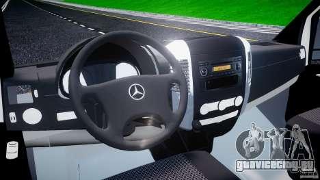 Mercedes-Benz Sprinter Euro 2012 для GTA 4 вид справа