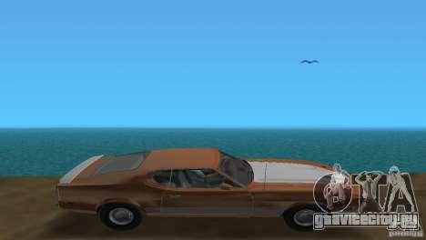Ford Mustang 1973 для GTA Vice City вид сзади