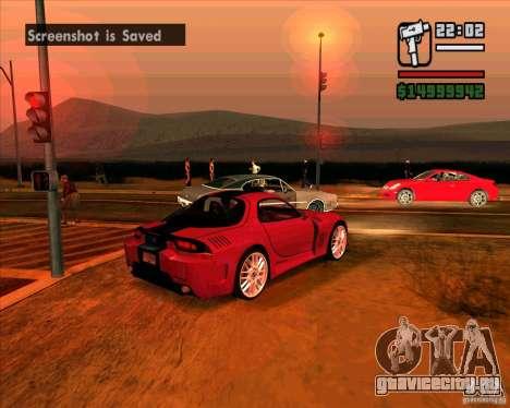 Mazda RX-7 MW для GTA San Andreas вид сзади слева