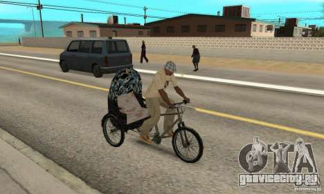 Manual Rickshaw v2 Skin3 для GTA San Andreas вид справа