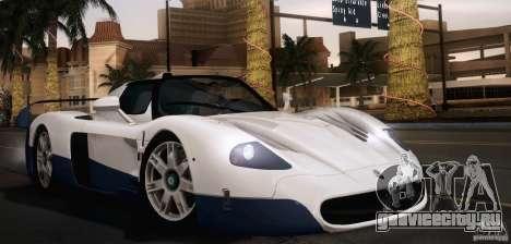 Maserati MC12 V1.0 для GTA San Andreas салон