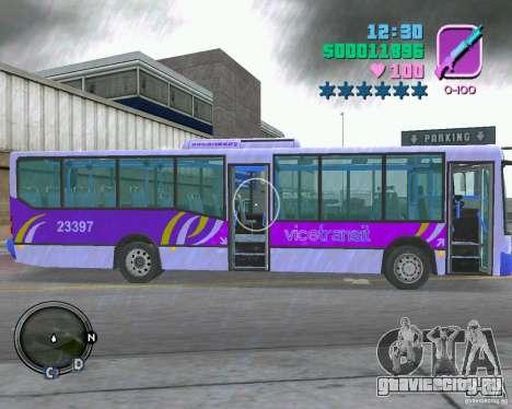Marcopolo Bus для GTA Vice City вид сзади