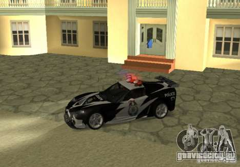 Chevrolet Cross Corvette C6 для GTA San Andreas вид слева