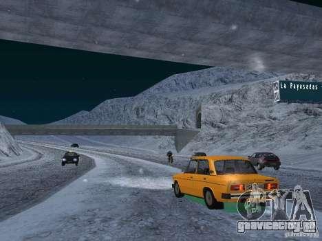 Снег для GTA San Andreas восьмой скриншот