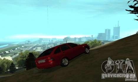 Lada Priora Hatchback для GTA San Andreas вид сзади