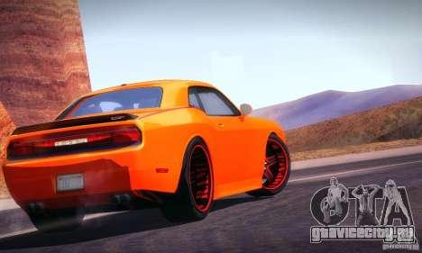 Dodge Quinton Rampage Jackson Challenger SRT8 v1 для GTA San Andreas вид сзади слева