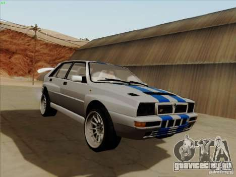 Lancia Integrale Evo для GTA San Andreas вид сзади