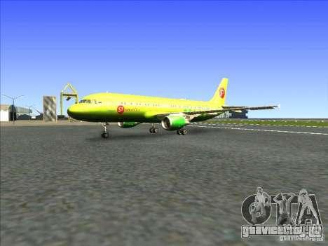 Airbus A-320 S7Airlines для GTA San Andreas вид слева