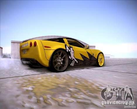 Chevrolet Corvette C6 super promotion для GTA San Andreas вид справа