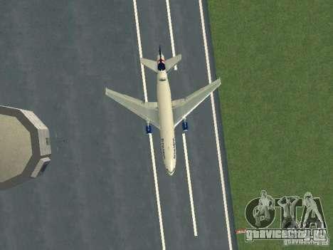 McDonell Douglas DC10 British Airways для GTA San Andreas вид изнутри