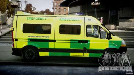 Renault Master 2007 Ambulance Scottish [ELS] для GTA 4 вид изнутри