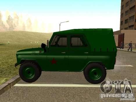 УАЗ 469 Военный для GTA San Andreas вид слева