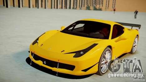 Ferrari 458 Challenge 2011 для GTA 4 вид справа