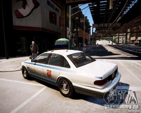 Russian Police Cruiser для GTA 4 вид слева