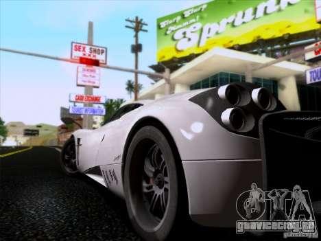 Pagani Huayra 2011 для GTA San Andreas вид сзади