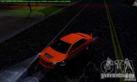 Mitsubishi Lancer Evolution IX 2006 для GTA San Andreas вид слева