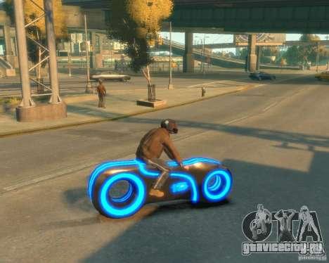 Мотоцикл из Трон (синий неон) для GTA 4 вид слева