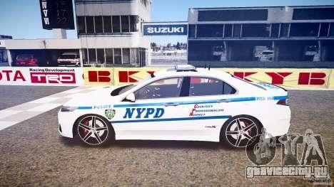 Honda Accord Type R NYPD (City Patro 1950l) ELS для GTA 4 вид слева