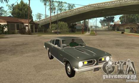 Plymouth Barracuda Formula S 383 1968 для GTA San Andreas вид сзади