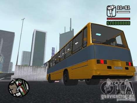 Ikarus 263 для GTA San Andreas вид изнутри