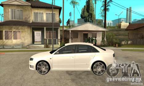 Audi RS4 2006 v2 для GTA San Andreas вид слева