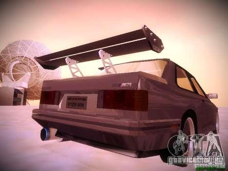 BMW M3 Drift для GTA San Andreas вид сзади