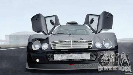 Mercedes-Benz CLK GTR Race Car для GTA San Andreas вид сзади слева