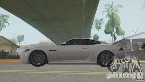 Jaguar XKR-S для GTA San Andreas вид сзади слева