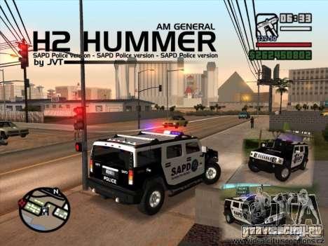 AMG H2 HUMMER SUV SAPD Police для GTA San Andreas