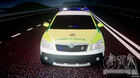 Skoda Octavia Scout Paramedic [ELS] для GTA 4 вид снизу