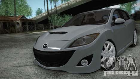 Mazda Mazdaspeed3 2010 для GTA San Andreas вид изнутри