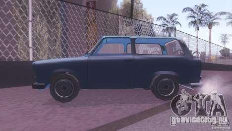 Trabant 601S для GTA San Andreas вид сзади