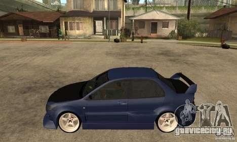 Mitsubishi Lancer 2006 Tuned для GTA San Andreas вид слева