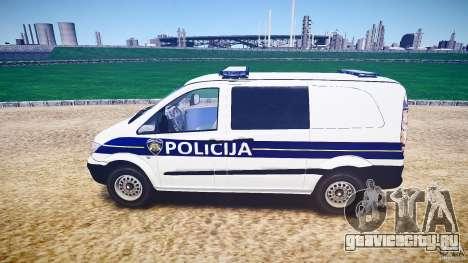 Mercedes Benz Viano Croatian police [ELS] для GTA 4 вид слева