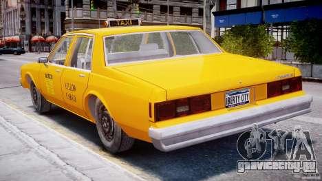 Chevrolet Impala Taxi 1983 для GTA 4 вид сверху