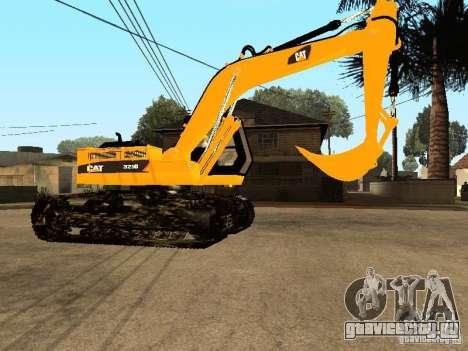 Экскаватор CAT для GTA San Andreas вид сзади