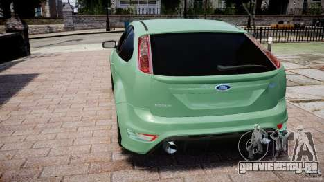 Ford Focus RS для GTA 4 вид сзади слева