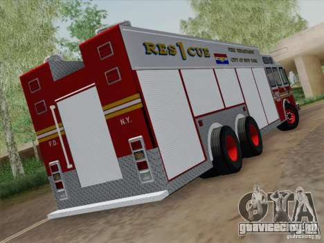 E-One F.D.N.Y Fire Rescue 1 для GTA San Andreas вид справа