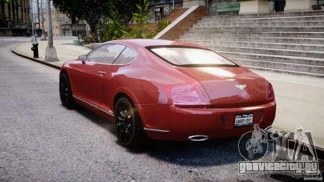 Bentley Continental GT 2004 для GTA 4 вид сзади слева