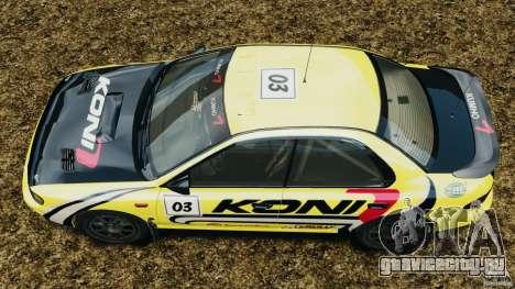 Subaru Impreza WRX STI 1995 Rally version для GTA 4 вид справа