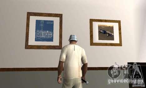 Новые интерьеры безопасных домов для GTA San Andreas третий скриншот
