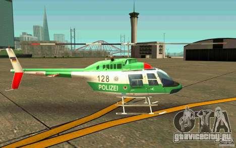 Bell 206 B Police texture3 для GTA San Andreas вид сзади слева