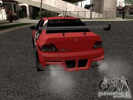 Mitsubishi Lancer Evo 8 для GTA San Andreas вид справа