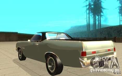 Chevrolet El Camino 1972 для GTA San Andreas вид сзади слева