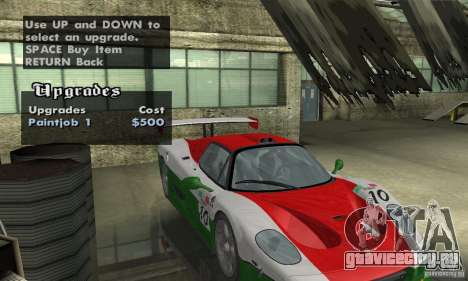 Ferrari F50 GT (v1.0.0) для GTA San Andreas вид сбоку