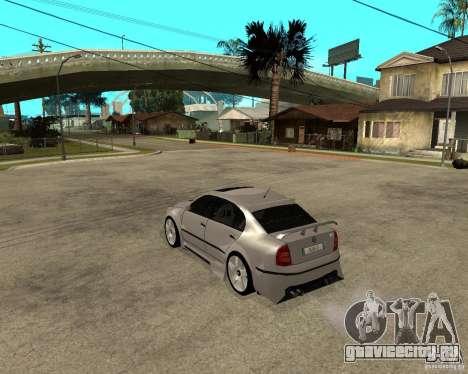 Skoda Superb Light Tuning для GTA San Andreas вид сзади слева