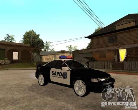 Honda Integra 1996 SA POLICE для GTA San Andreas вид сзади