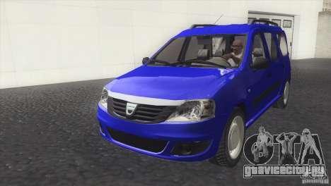 Dacia Logan MCV Facelift для GTA San Andreas вид справа