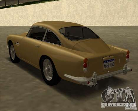 Aston Martin DB5 Vantage 1965 для GTA San Andreas вид слева